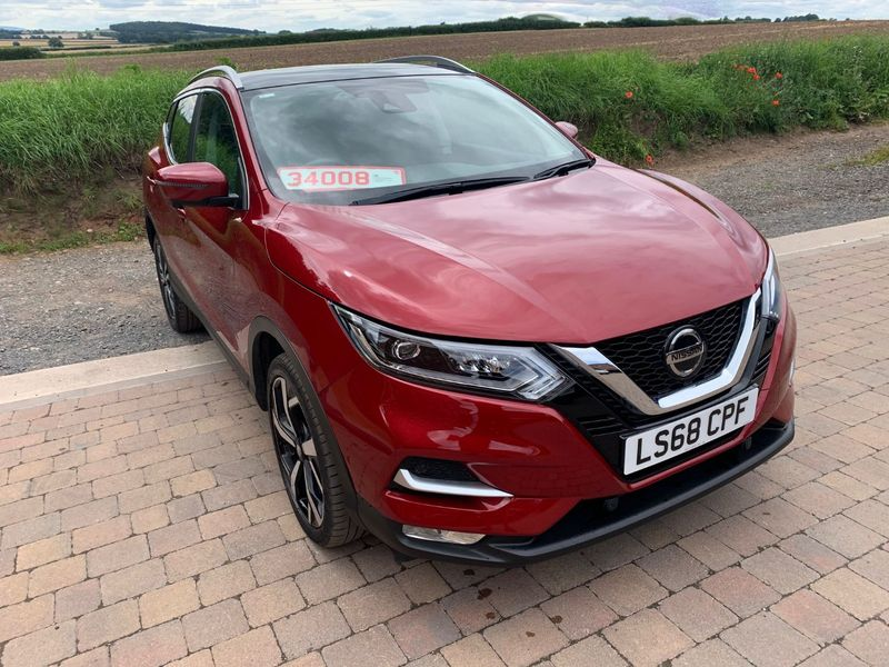 View NISSAN QASHQAI TEKNA 1.5 DCi 110 BHP 6 SPEED NEAR SIDE SUSPENSION AND SIDE AIRBAG DAMAGE CAT N **BEING REPAIRED**